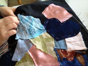 creazione  al  corso di crazy patchwork