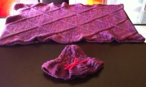 Corso di maglia, realizzato da una corsista